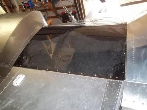 Inboard skins riveted