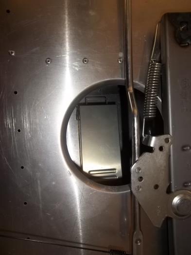 Transponder under pilot seat