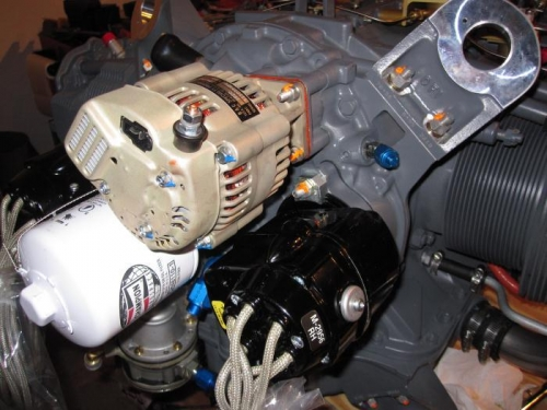 SD-20 Backup Alternator installed