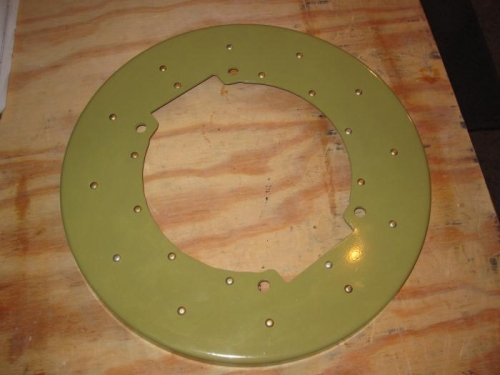 Doubler riveted to the back spinner plate