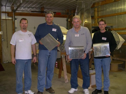 Troy, Walt, Bob (me), and Tom with our finished kits