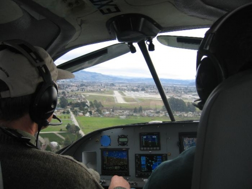 On approach to Watsonville in Dave Saylor's RV-10