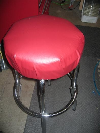 Newly covered stool