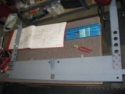 Completed rear spar bulkhead