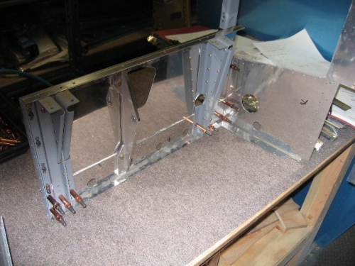 Forward fuselage bulkhead sub-assembly - right side