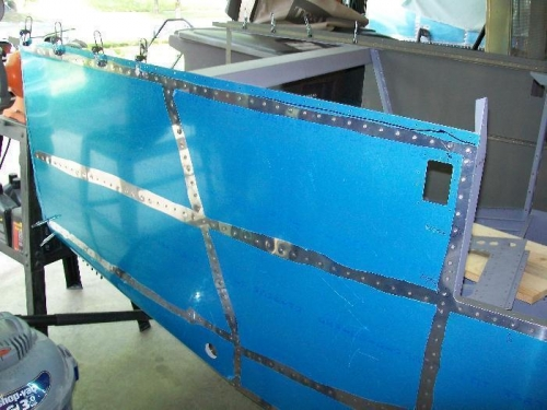 Right side fuselage skin all done