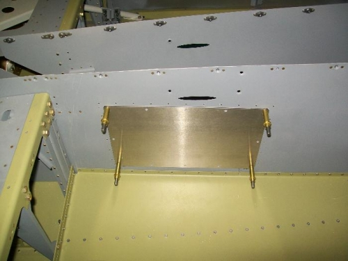 Access plate mounted and cutout hole marked