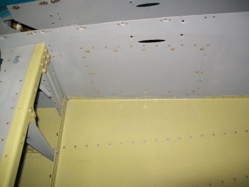 Inspection panel cover screwed in place