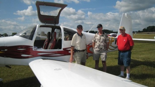 Ivan, Sheldon, and me with Sheldon's RV-10