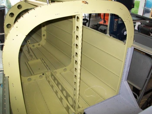 All nutplates installed in the tailcone bulkhead