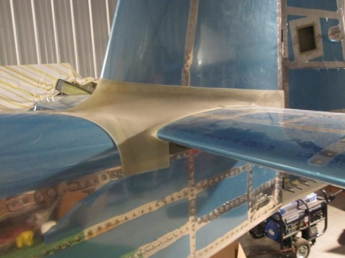 Trial fit of empennage fairing