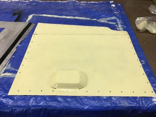 Primed Left Engine Compartment Cover