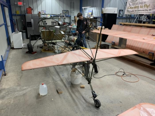 horizontal stabilizer loosely attached (we need some more hardware)