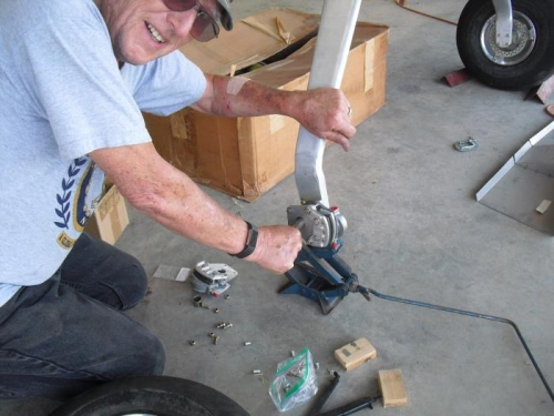 Terry working on right Brake
