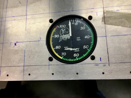 After weeks of preperation we have an airspeed indicator!