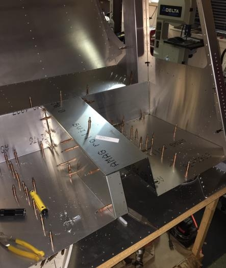 Remaining aft fuselage baggage panels trial-fit