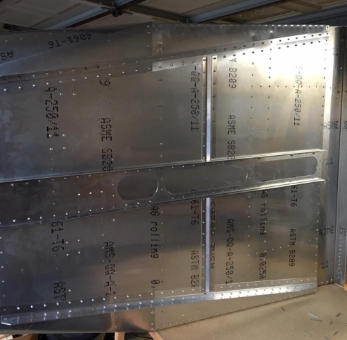 underside fwd fuselage riveted