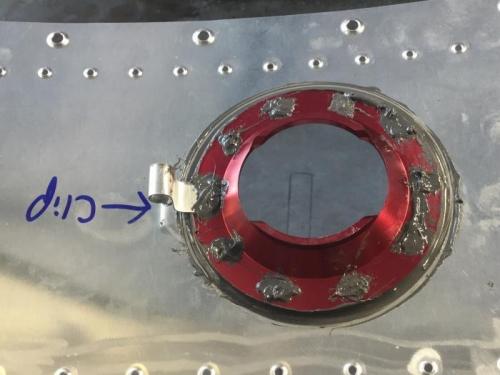 Fuel Cap and Vent Clip Sealed