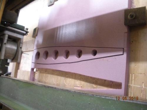 Foam inserts cut on CNC rounter