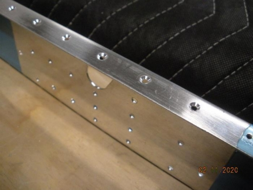 Countersink holes for upper skin dimples