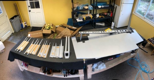 all rudder components primed