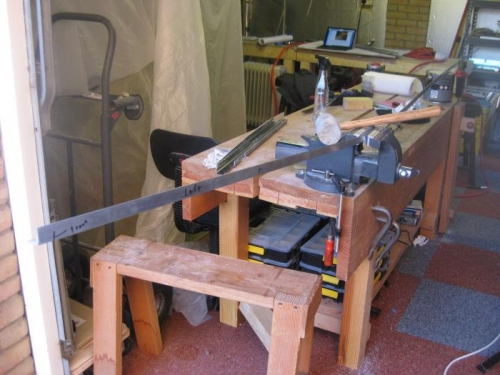 Just a vice, a little body weight and a mallet is all it takes...and careful measuring