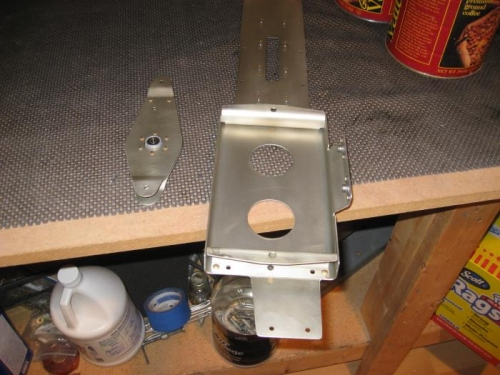 Elevator bellcrank and battery tray