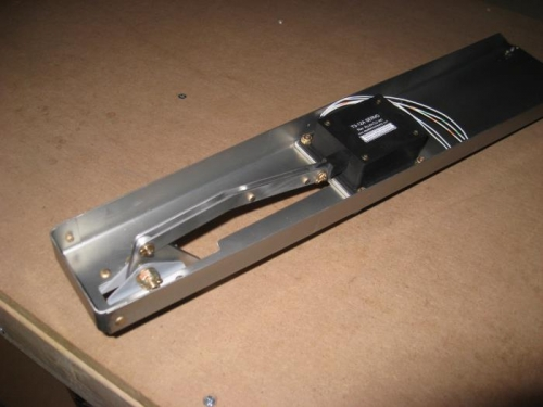 Elevator trim servo and bellcrank mechanism