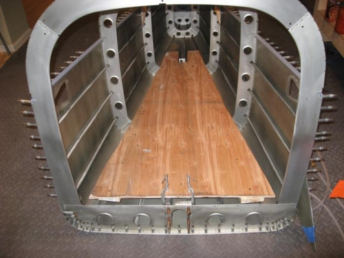 Wooden platform for interior access