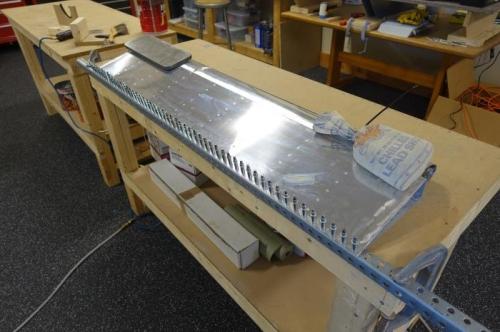 Right aileron glued trailing edge