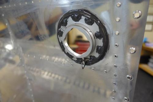 Inside view of fuel cap flange