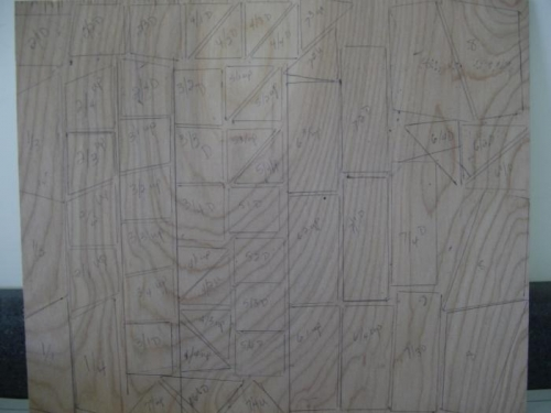 gusset tracing on ply