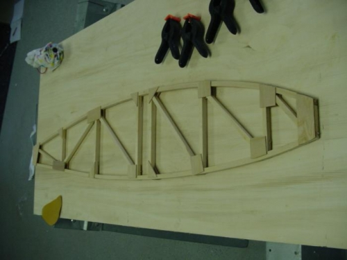 Rib 1 complete  - in the rough