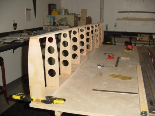 mahogony blocks clamped in for outer hinge plate