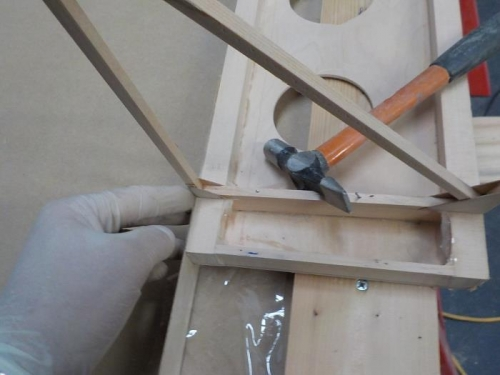 Facing with 0,8mm plywood