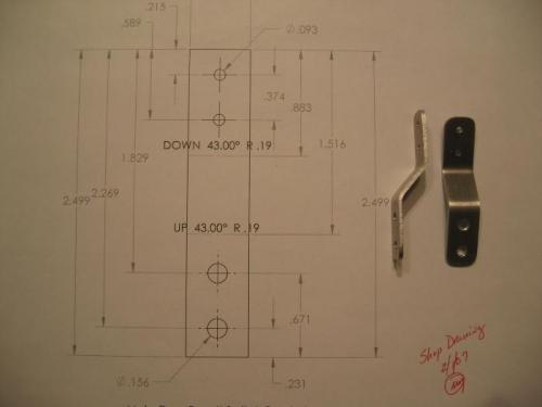 Main gear micro switch brackets