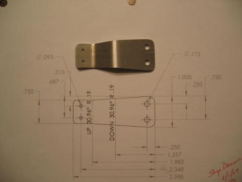 Nose gear micro switch bracket