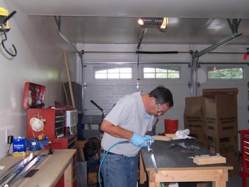 Polishing HS rear spar reinforcement bars
