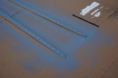 Priming HS rear spar reinforcement bars
