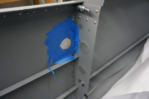 RH Static Port drilled and prepped for bonding