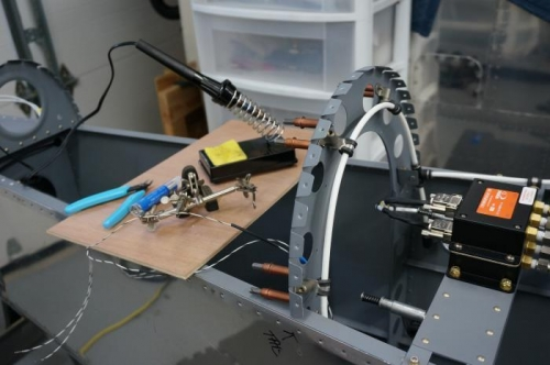 Solder splicing the OAT probe wires