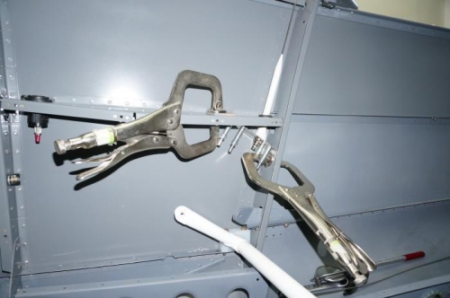 ELT antenna in place in RH rear armrest