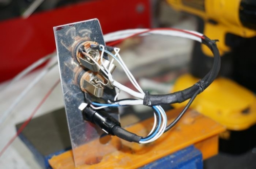 Shortened lemo plug wiring