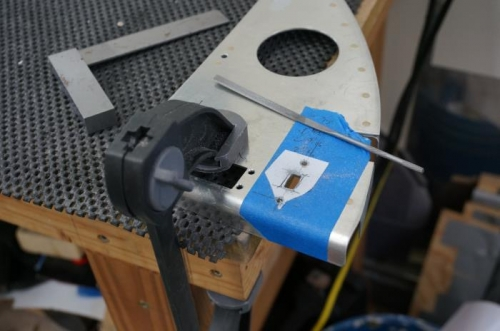 Cutting holes for Skyview USB port
