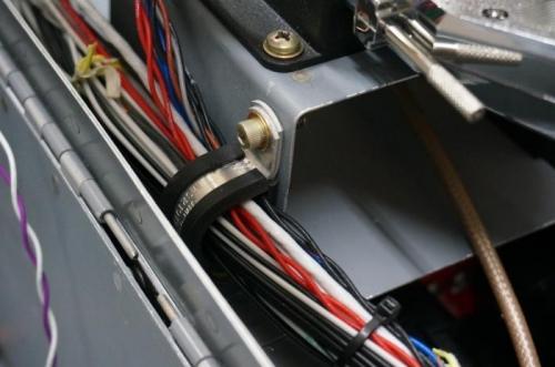 P clamp on SV-EMS shelf
