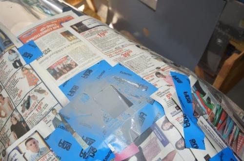 Slider rail receptical painted