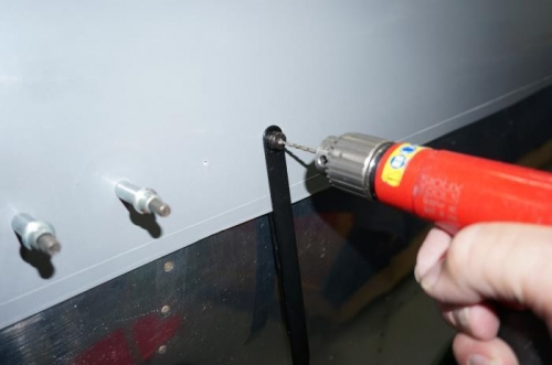 Drilling the skirt fastener holes