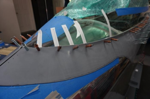 Improved method for locating the holes in the canopy frame