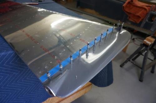 Rudder bottom drilled