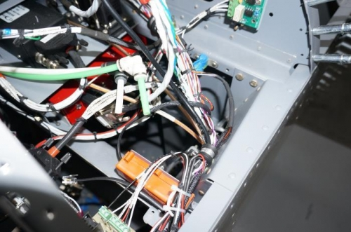 Secured with wire bundle in forward avionics bay